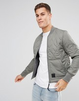 Cheap Monday Trouble Quilt Bomber Gray