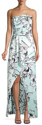 Parker Whitney Satin Floral Gown