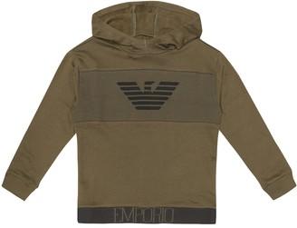 Emporio Armani Kids Logo cotton hoodie