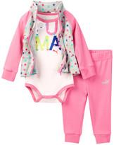 Puma Bodysuit, Hi-Low Jackets & Pant Set (Baby Girl)