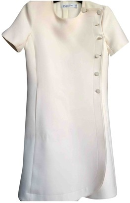 Christian Dior White Silk Dresses