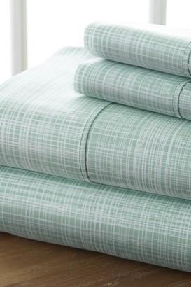 IENJOY HOME Home Spun Premium Ultra Soft Thatch Pattern 3-Piece Twin Bed Sheet Set - Forest
