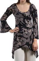 24/7 Comfort Apparel Floral High-Low Tunic