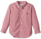 Ralph Lauren Gingham Cotton Poplin Shirt Boy's Long Sleeve Button Up