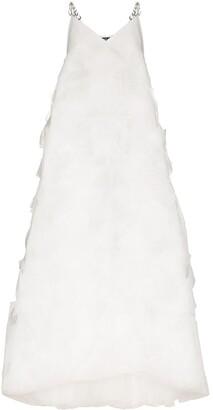 Susan Fang layered geometric cut gown