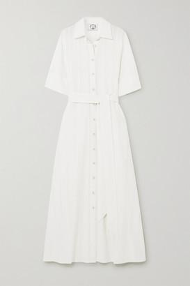 Evi Grintela Valerie Cotton-crepe Maxi Shirt Dress - White