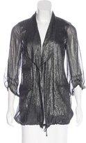 Diane von Furstenberg Brady Metallic-Accented Jacket
