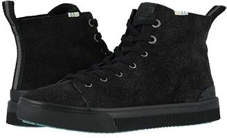 Toms TRVL LITE High (Black Shaggy Suede) Women's Shoes