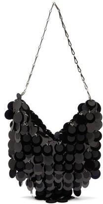 Paco Rabanne Sparkle 1969 Small Sequinned Leather Shoulder Bag - Black