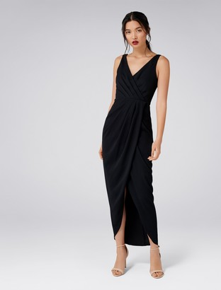 Forever New Victoria Wrap Dress - Black - 4
