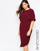 Asos Plain Wiggle Cut Out Back Dress