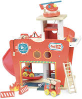 Vilac Wooden Fire Station - 10 pieces