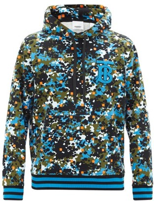 Burberry Coldan Camouflage-print Cotton Hooded Sweatshirt - Green Multi