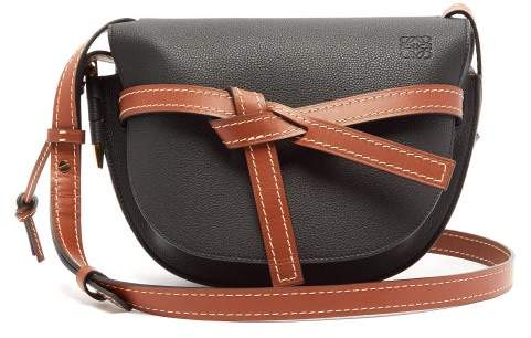 42be6683eea Gate Small Grained Leather Cross Body Bag - Womens - Black Brown