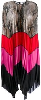 MSGM Pleated Midi Shirt Dress