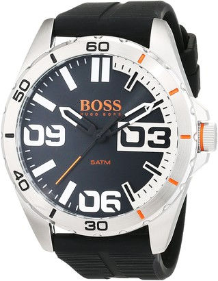 HUGO BOSS Orange Berlin Men's Quartz Analogue Classic Black Silicone Strap 1513285