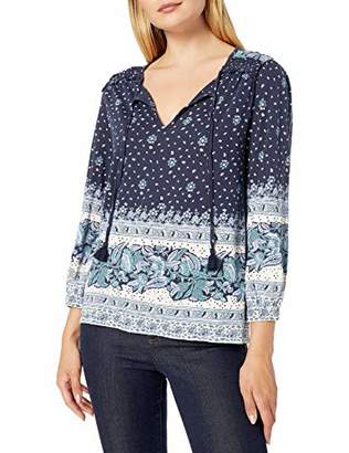 Lucky Brand Women's Placed Print Knit Peasant Top