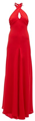 Julie De Libran - Julia Crossover-halterneck Silk Gown - Red