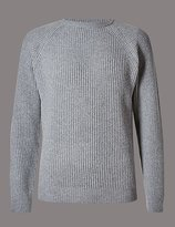 Merino Wool Blend Jumper With Cashmere