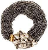Sole Society Multi Chain Stone Bracelet