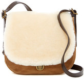UGG Heritage Suede & Genuine Lamb Fur Crossbody