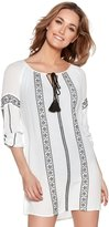 M&Co Gypsy embroidered beach tunic