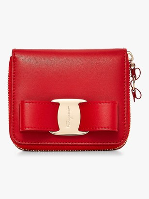 Salvatore Ferragamo Vara Zip Around Wallet