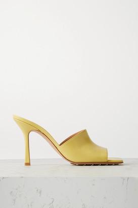 Bottega Veneta Leather Mules - Yellow
