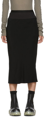 Rick Owens Black Cady Skirt