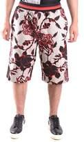 Alexander McQueen Men's Multicolor Cotton Shorts.