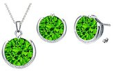 Glimmering Color Pendant & Earrings Set Made With SWAROVSKI ELEMENTS