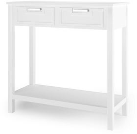 Overstock 2 Drawers Accent Console Entryway Storage Shelf