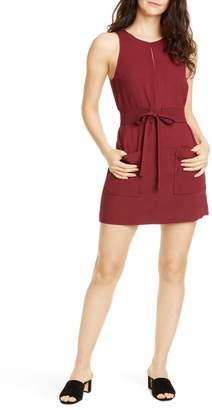 Joie Puck Tie Belt Sleeveless Minidress