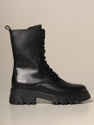 Ash Liam Amphibian In Leather With Rubber Sole
