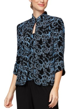 Alex Evenings Petite Embroidered Twinset