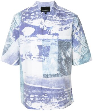 3.1 Phillip Lim Beach Print Shirt