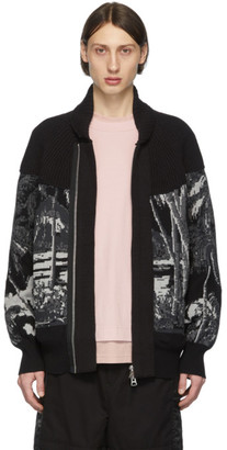 Sacai Black Sun Surf Edition Knit Diamond Head Cardigan