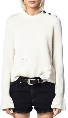 Zadig & Voltaire Posy Bell-Sleeve Sweater