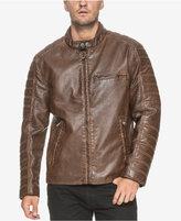 Andrew Marc Men's Padded-Sleeve Moto Jacket