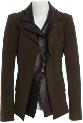 Plein Sud Jeans Khaki Leather Jackets
