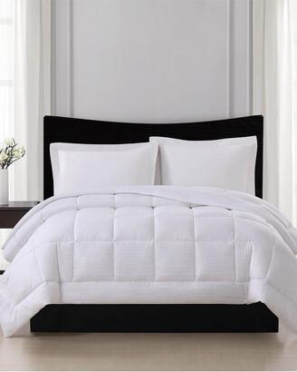 London Fog Embossed Stripe Seersucker Down Alternative Comforter