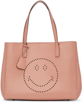 Anya Hindmarch Pink Ebury Smiley Shopper Tote