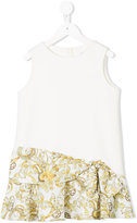 Versace bow detail printed dress