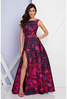 Terani Couture 1722E4197 Sleeveless Floral Print Evening Gown