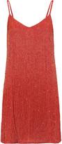 Haute Hippie Sequin-embellished beaded silk-chiffon mini dress