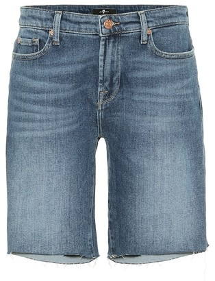 7 For All Mankind Easy stretch-denim shorts