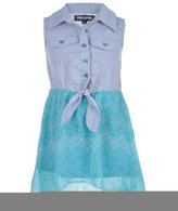 "Chillipop Little Girls' Toddler ""Patterned Chevron"" Dress"