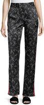 Equipment Florence Floral-Print Straight-Leg Silk Trousers