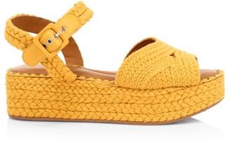 Clergerie Alda 3 Braided Flatform Sandals