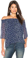Velvet by Graham & Spencer Vida Off Shoulder Top in Blue